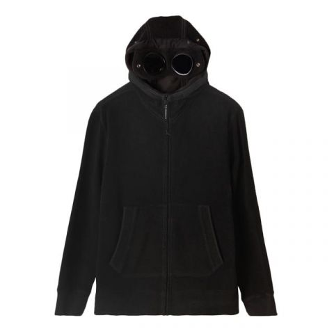C.P. Company Garment Dyed Polar Fleece Hoodie