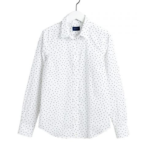 GANT French Dot Stretch Broadcloth