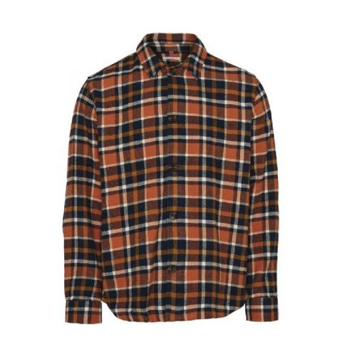 Knowledge Cotton Apparel Pine Checked Overshirt