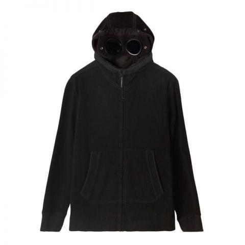 C.P. Company Garment Dyed Polar Fleece Hoodie