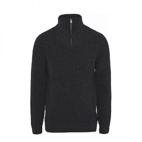 Knowledge Cotton Apparel Valley Neck Zip Knit